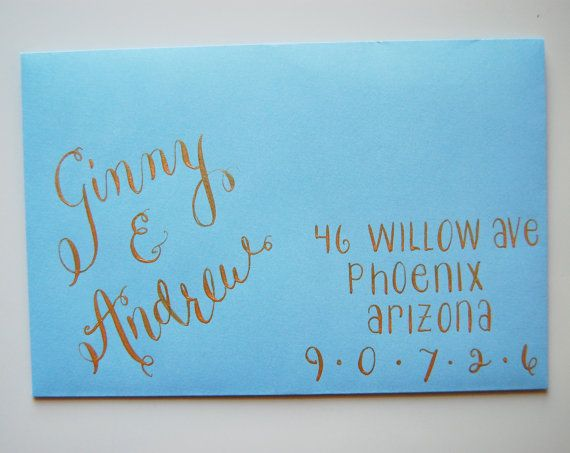 Wedding Or Special Event Hand Addressed Envelopes (SUPER WEIRD That Our  Names Are On This, But I Love It!