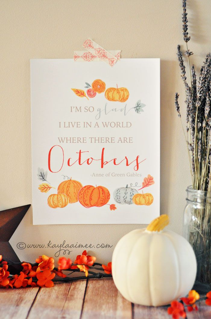 """I'm so glad I live in a world where there are Octobers"" 