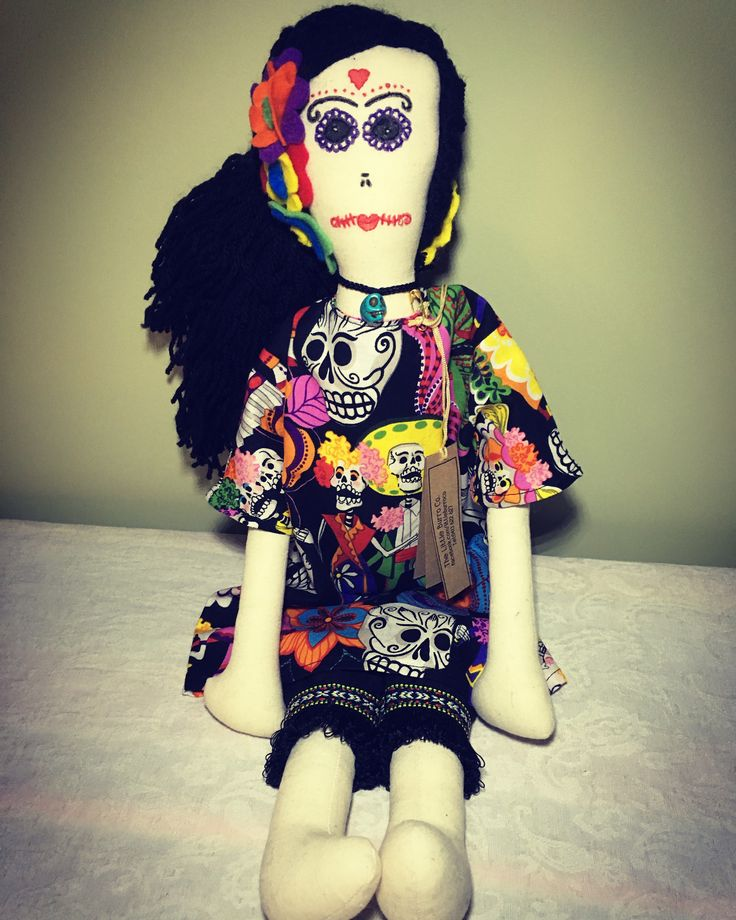 Esmeralda-Cloth Doll. Designed and handmade by The Little Burro Co.