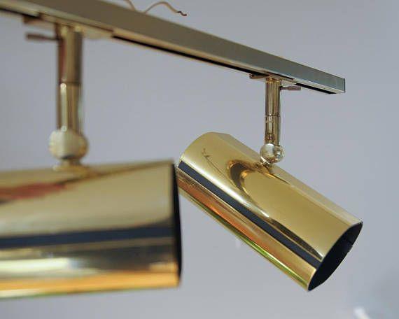 lightolier mid century vintage brass
