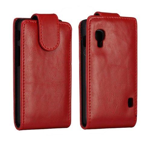 Wall Street (Rød) LG Optimus L5 II Lær Flipp Etui