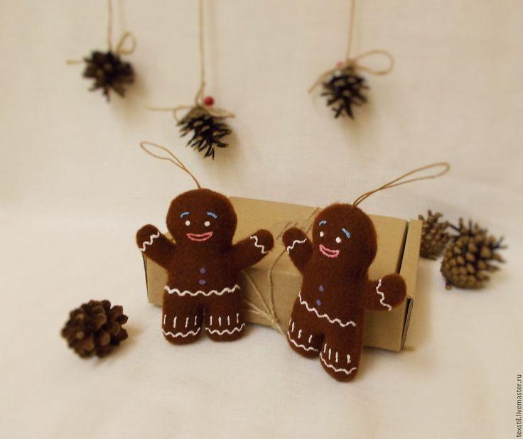 Купить Пряничные друзья))Пряничный человечек. - пряничный человек, пряничный человечек, подвеска человечек, подвеска новогодняя