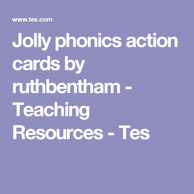 Jolly phonics action cards by ruthbentham - Teaching Resources - Tes