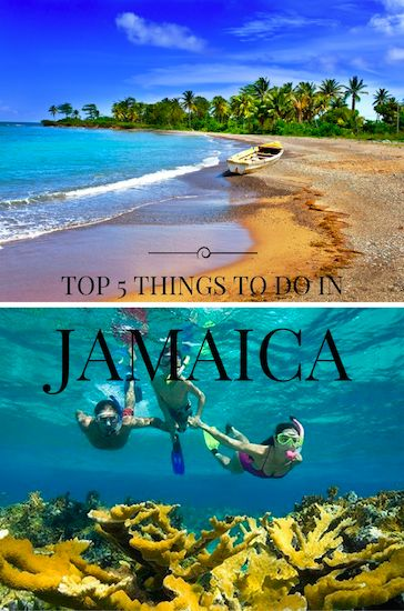 Read about the top five things to do while on vacation in Jamaica!