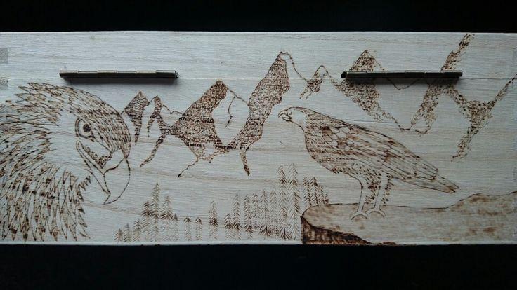 Tolkien pyrography box