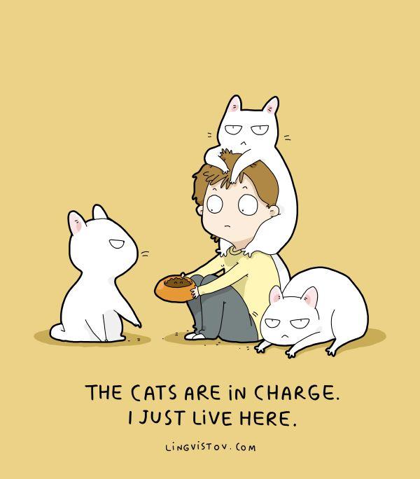 Lingvistov.com - #illustrations, #doodles, #joke, #humor, #cartoon, #cute, #funny, #comics, #greeting #cards, #joke, #drawing, #cats, #lingvistov, #cats