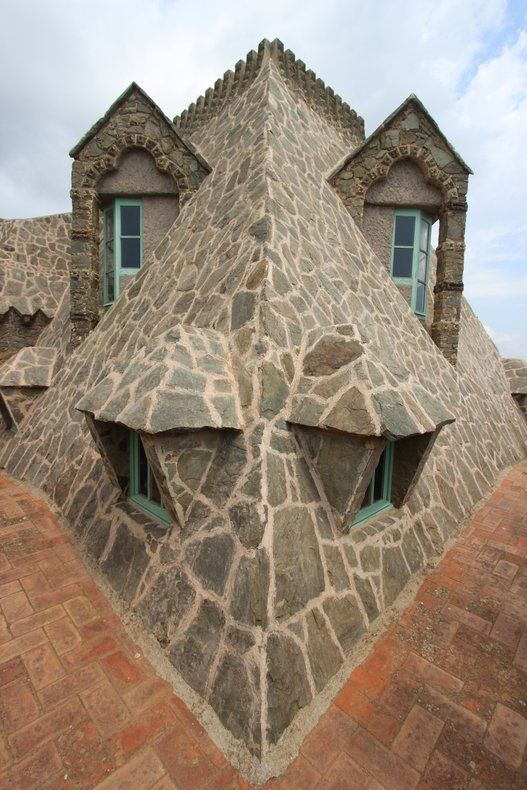 Do you see the face of a dragon? The photo is from Torre Bellesguard by Antoni Gaudi in Barcelona.