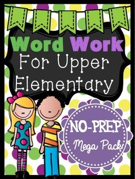 Word Work for Upper Elementary / Ready-made vocabulary center for the YEAR