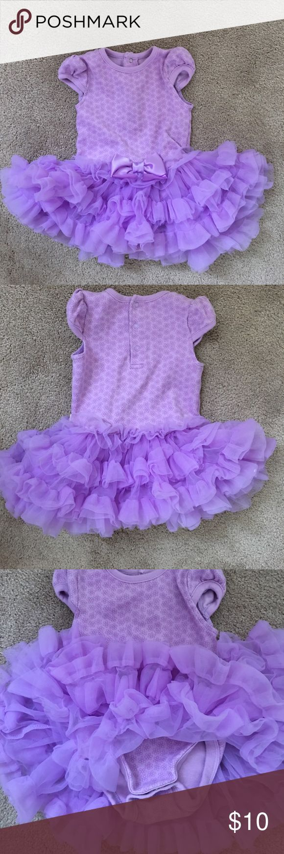 Onesie Tutu Purple shirt sleeve onesie with fluffy tulle Tutu attached truly scrumptious Dresses Casual