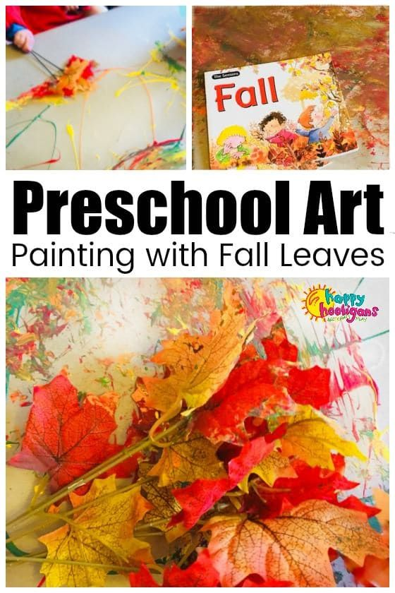 Leaf Painting A Fall Art Activity For Toddlers And Preschoolers
