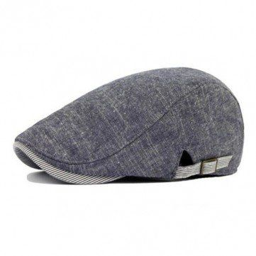 Vintage Men\'s Cotton Beret Cap Casual Newsboy Hats