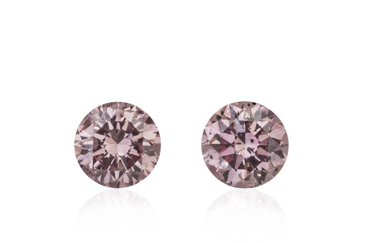 Matching Pair of Argyle Origin Natural Pink Diamonds 2 = 0.55 ct
