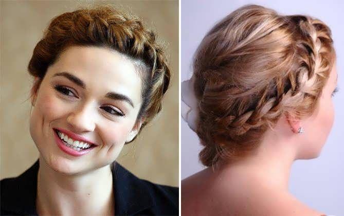 Французские косички на коротких волосах: фото 2