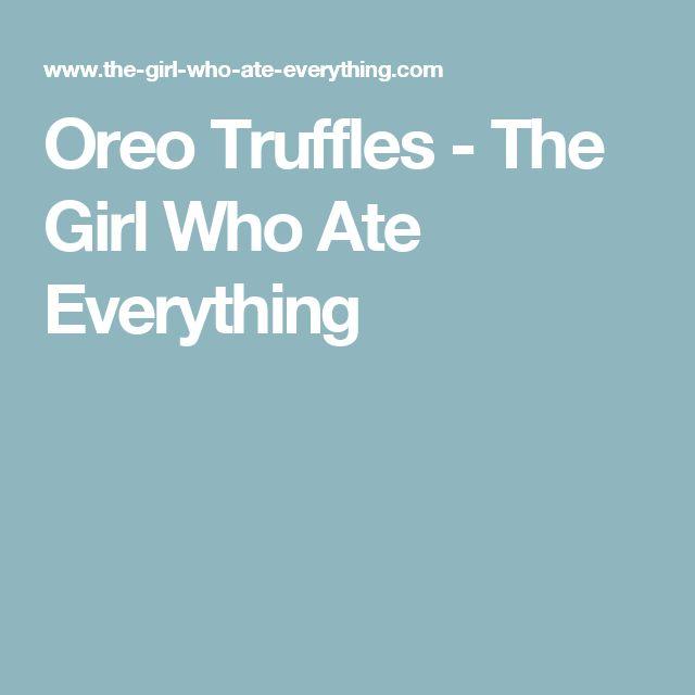 Oreo Truffles - The Girl Who Ate Everything