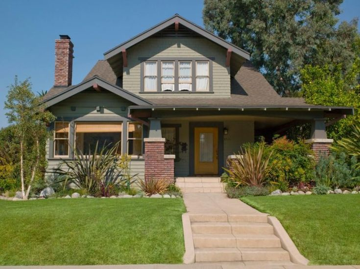 Craftsman Home Exterior all about exterior paint | bungalow, simple house and white trim