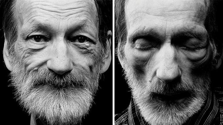 La vida antes de la muerte. Esta serie de fotos trata sobre la muerte y contiene imágenes de personas antes y después de fallecer.