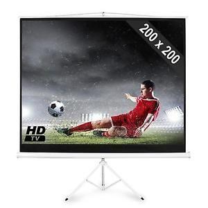 a pantalla proyector 200 x 200 cm 112 calidad hd ratio 43 soporte pared incluido