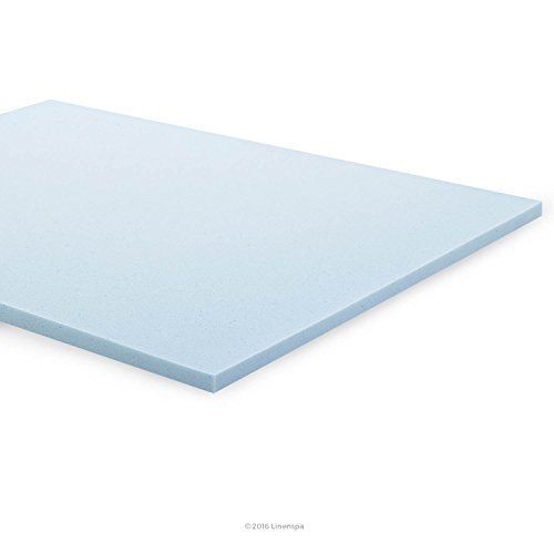 instantly add a comfort layer to your mattress with the linenspa 2 inch gel memory foam mattress topper soft supportive memory foam helps to relieve p