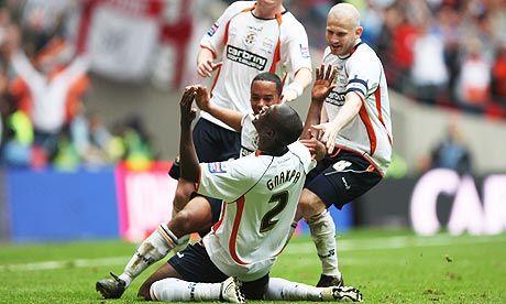 Luton Town FC, Johnstone's Paint Trophy 2009, Ed  Asafu-Adjaye, Claude Gnapka, Kevin Nicholls