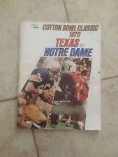 1970 COTTON BOWL CLASSIC College Football Program TEXAS LONGHORNS vs NOTRE DAME
