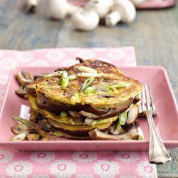 Portabella omelette