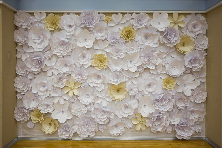 Beautiful Paper Flower Wall For Wedding Reception We Put
