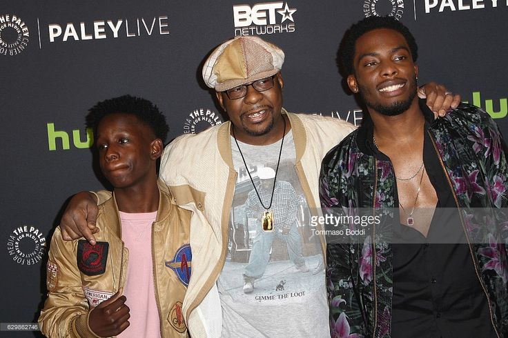 Tyler Williams, Bobby Brown and Woody McClain attend the Paley Center For Media Presents Premiere Of BET's 'The New Edition Story' at The Paley Center for Media on December 14, 2016 in Beverly Hills, California.