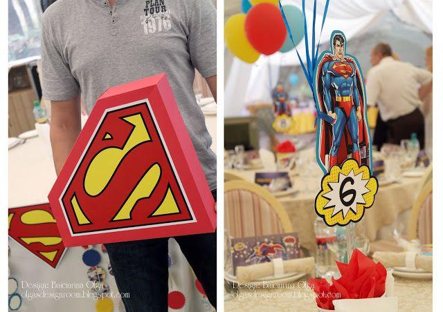 Baiciurina Olga's Design Room: Вечеринка в стиле супергероев. Вперед за приключениями!-Superman birthday party decorations!