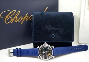 Chopard Happy Sport Stainless Steel Sapphire Floating Fish Date Quartz Watch  | eBay