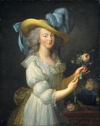 marie antoinette en chemise - fashion began in the 18th century.