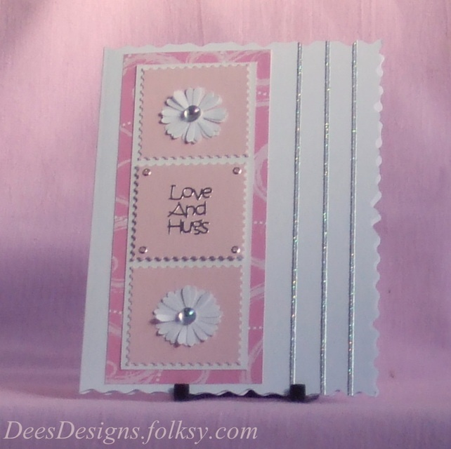 Handmade Mother's Day Card,Pink Daisies  £2.00