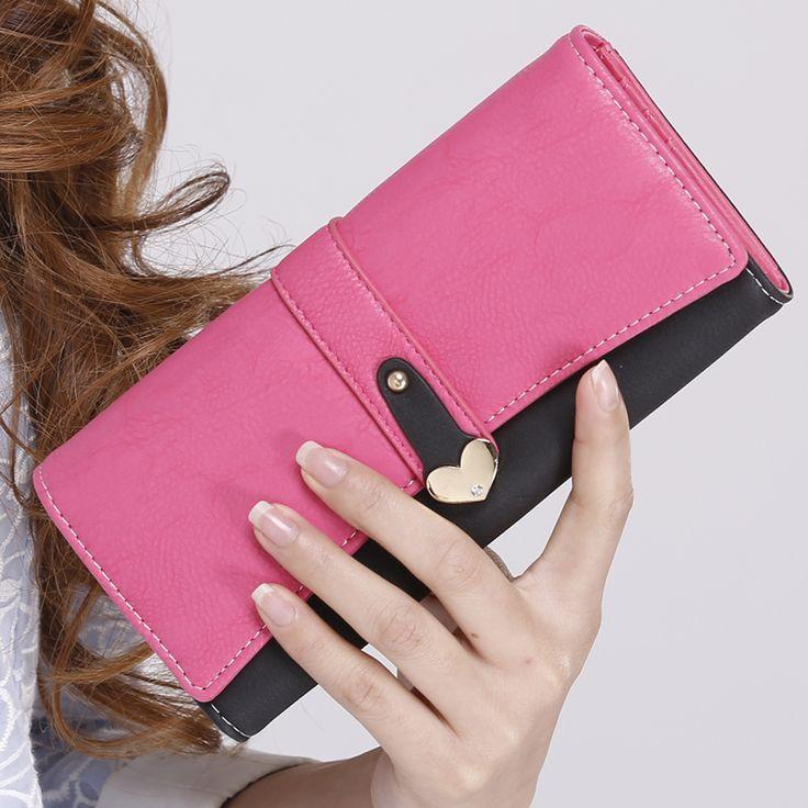 Купить 2016 новый женский кошелек женский Длинный кошелек руки мешок Корея ретро молния…