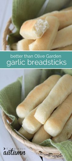 these are the best garlic breadsticks ever - even better than the Olive Garden! post includes step by step photos so you can make them even if you've never baked bread before.