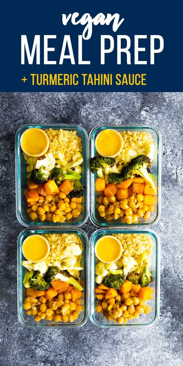 This vegan roasted vegetable meal prep has a tangy turmeric tahini sauce for you…   – On the go meals
