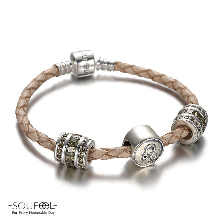 Leo Zodiac Charm Bracelet 925 Sterling Silver shop->http://www.soufeel.com/leo-zodiac-charm-bracelet-925-sterling-silver.html