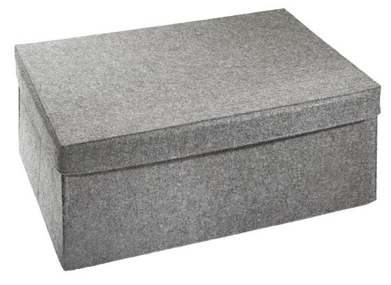 aufbewahrungsbox filz grau deckel alles filz. Black Bedroom Furniture Sets. Home Design Ideas