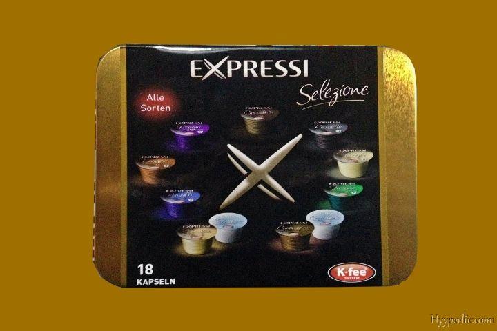 """""""Probepackung"""" der EXPRESSI Kapsel-Kaffeemaschine von ALDI Süd"""
