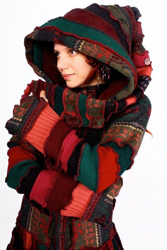 Recycelte Pixie Pullover Mantel TUTORIAL Katwise von katwise
