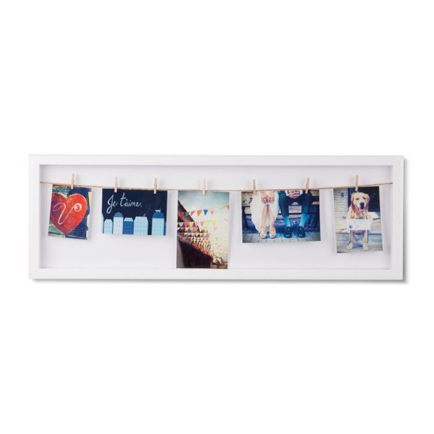 Umbra Clothesline Fotolijst 72 x 24 cm - Wit - afbeelding 1