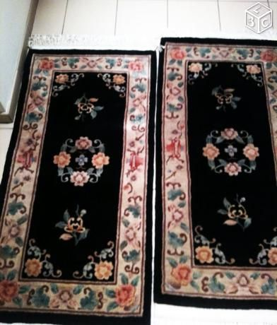 2 tapis jumeaux chinois 0.70 x 1.37 faits main