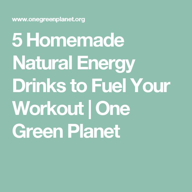 5 Homemade Natural Energy Drinks to Fuel Your Workout | One Green Planet