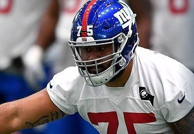 OL Jon Halapio has gone from selling used cars to the Giants' roster bubble