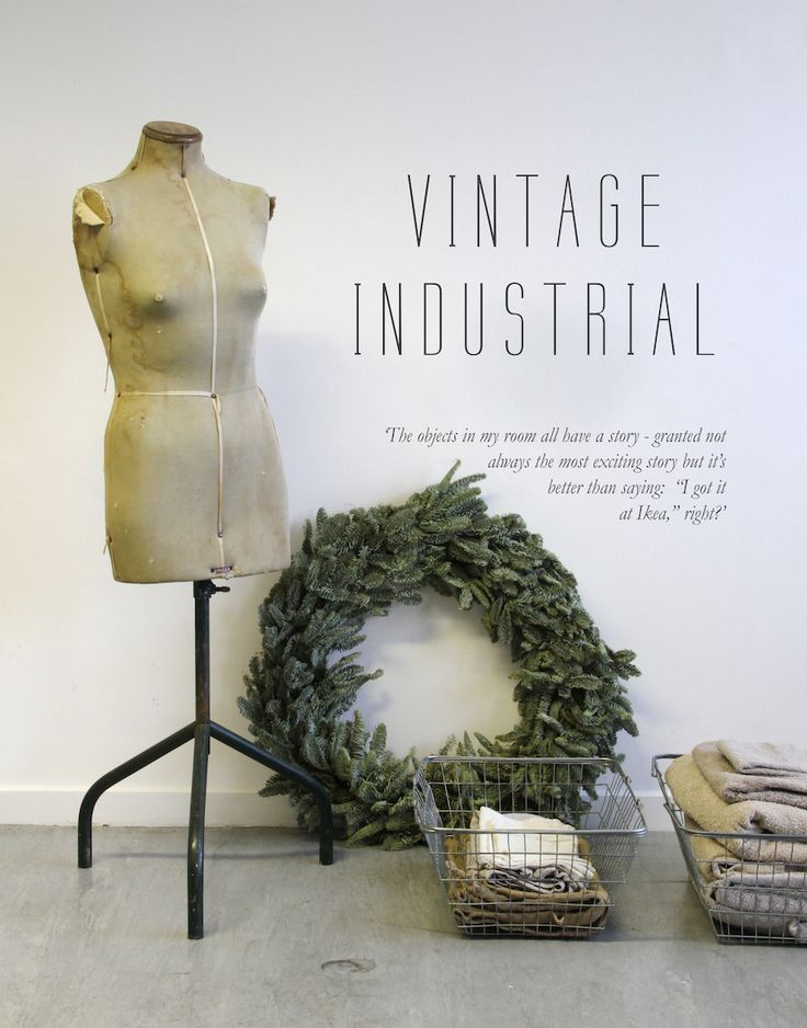 Decorating your home with vintage-industrial inspired freebies.