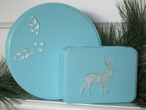 updated Christmas tins