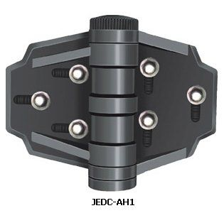 Dura-close JEDC-AH1 Gate Hinges (Black). Hinges manufactured are available in Black and White. All metallic parts are of stainless steel. The most durable, heavy-duty, multi-adjustable, self-closing Gate Hinges is an injection molded Hinge made from especially prepared glass-fibre reinforced polymer material. Never binds, sags, stains and never rusts. A unique spring tension mechanism. Most suitable for Vinyl, Wood and Metal fence-gates. Limited lifetime warranty.