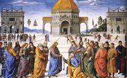 Christ Handing the Keys to St Peter 1481-82  by Pietro Vannucci Perugino