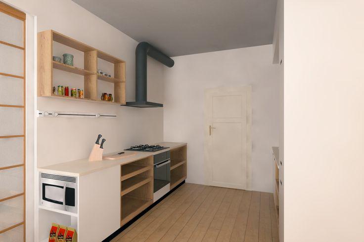 Kuchyně s dubovým masivem - Truhlářství Mašín
