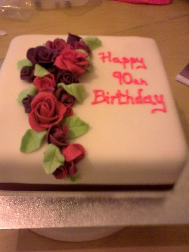 113 Best 90th Birthday Cakes Images On Pinterest