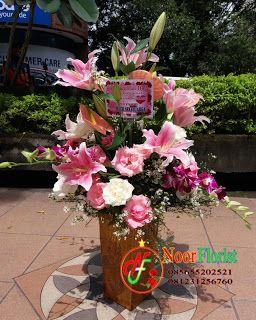 TOKO BUNGA SURABAYA | Noor Florist, Bunga Papan Sukses, Bunga Papan Duka Cita, Bunga Papan Wedding: Bunga Tiger Lily, Mawar, Anggrek Dirangkai Menjadi...