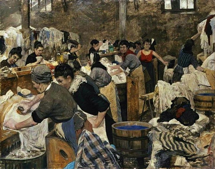 J.F. Willumsen - In a French Laundry, (1889)